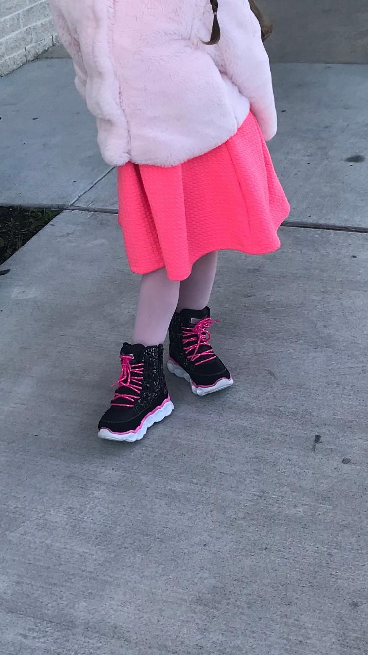Skechers Kids Lumi-Luxe-Splash Dash Sneaker