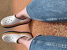 Crocs Crocband Platform Rainbow Clog