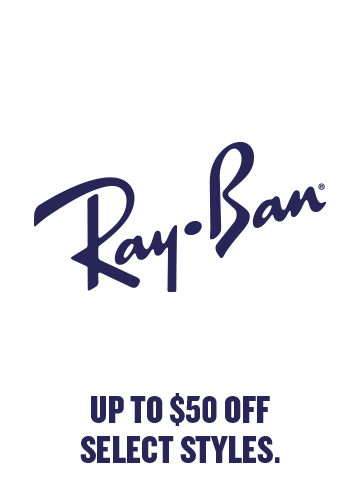 Ray-Ban Up to $50 off select styles.