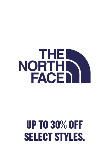 The North Face Up to 30% off select styles.