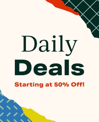 Daily Deals Starting at 50% Off