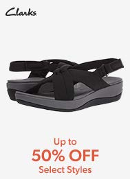 CLarks up to 50% off select styles.