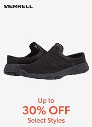 Merrell Up to 30% off select styles.