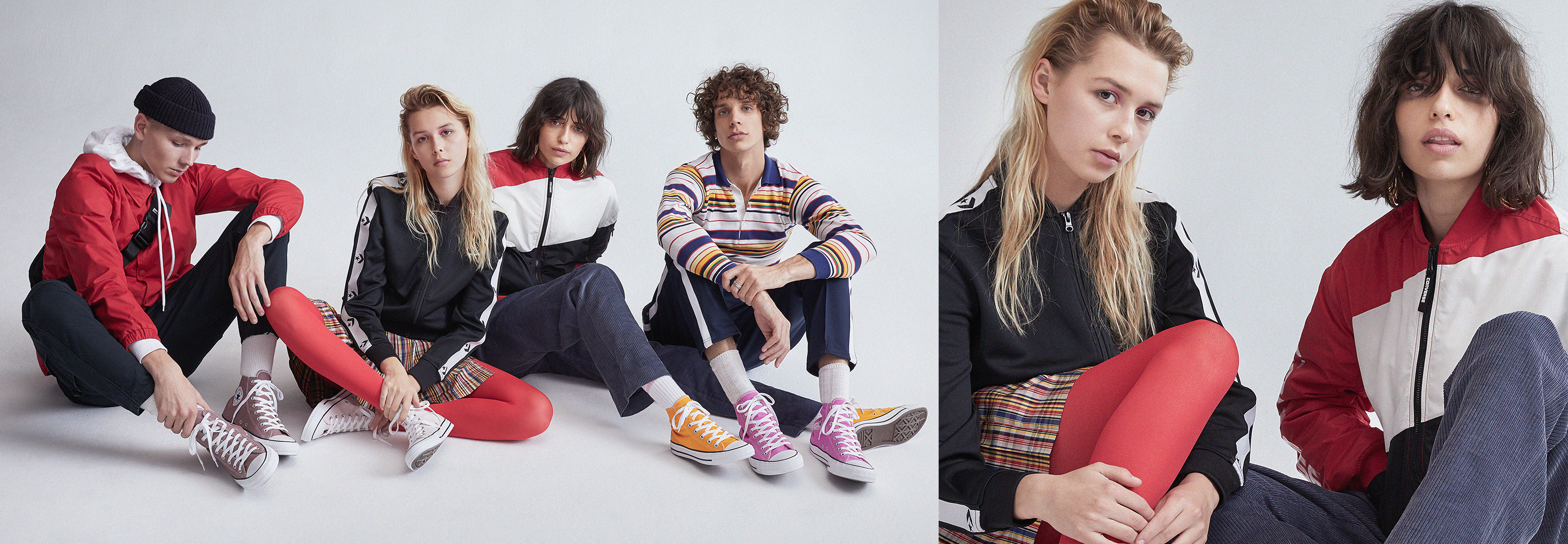 Image of a group of people wearing Converse.
