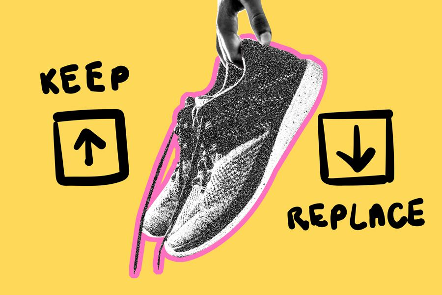 Article about When to replace running shoes.