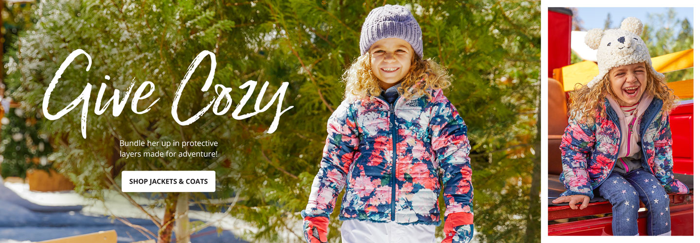 Give Cozy. Bundle her up in protective layers made for adventure! Shop Jackets & Coats.
