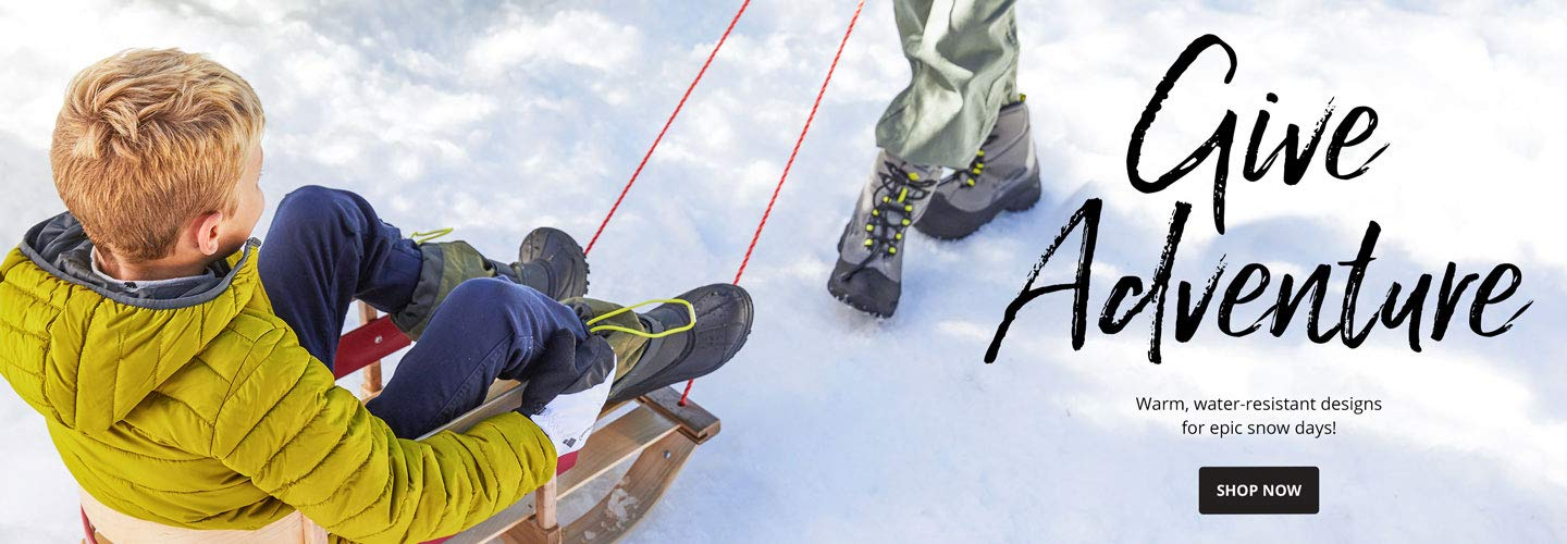 Give Adventure. Warm, water-resistant designs for epic snow days! Shop Now