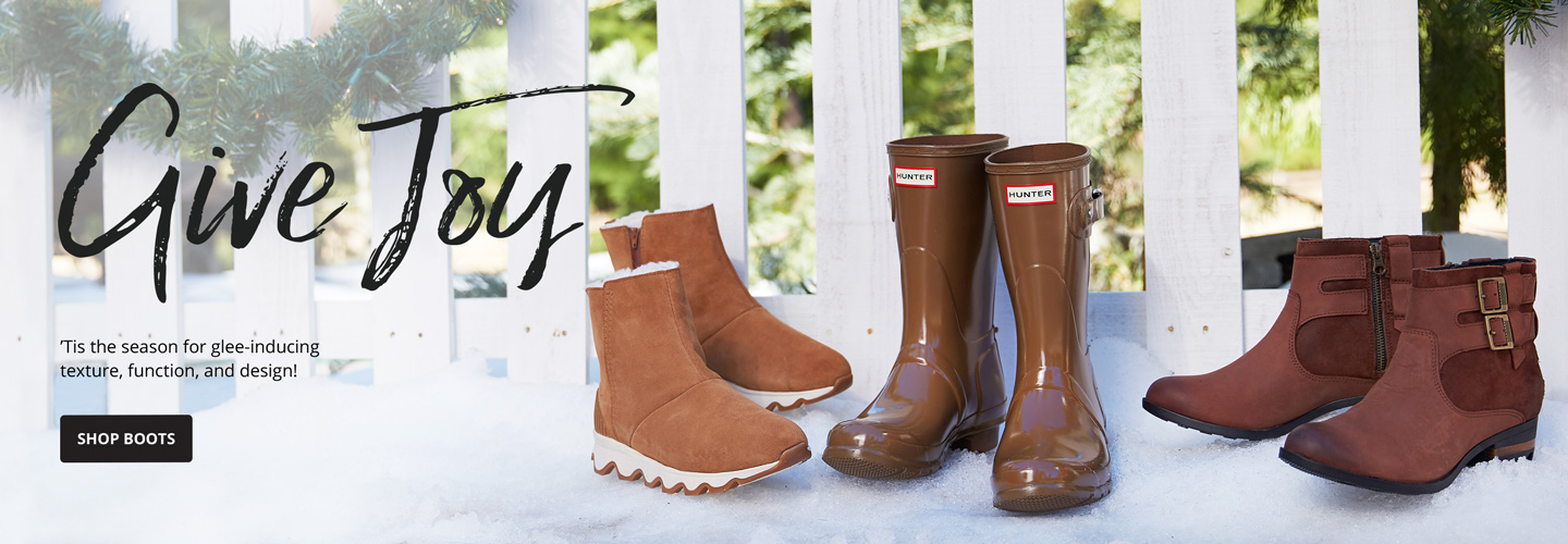 Give Joy. Tis the season for glee-inducing texture, function and design. Shop Boots