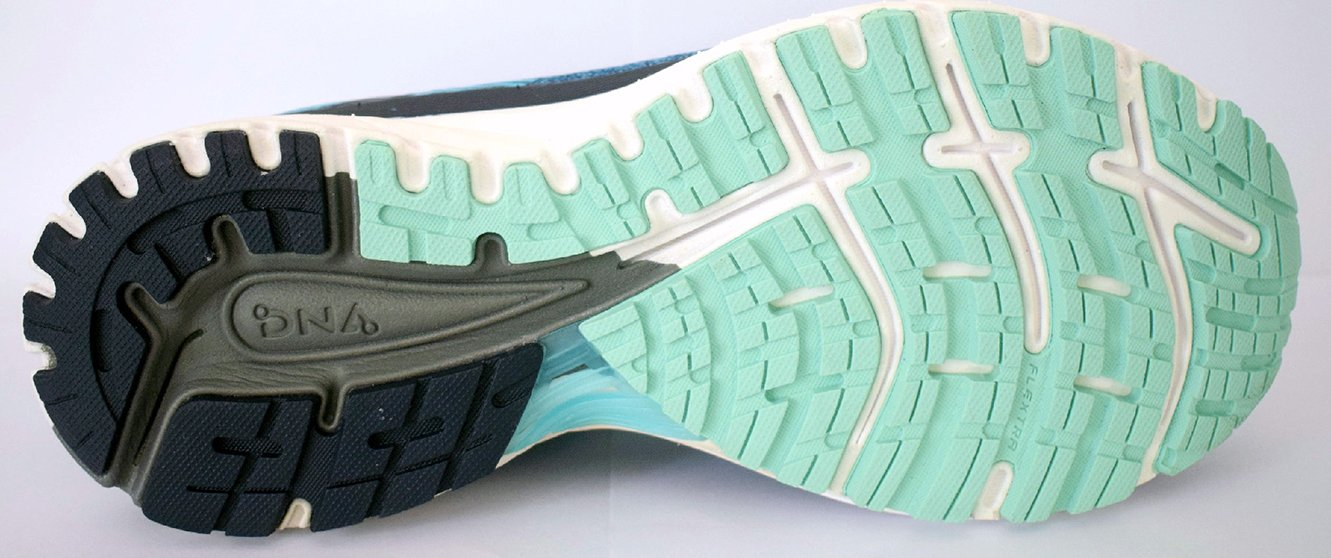 a0259e14c69fc These materials were also used in the previous versions of Brooks  Adrenaline GTS shoes. They are specially placed in the sole unit to deliver  durability and ...