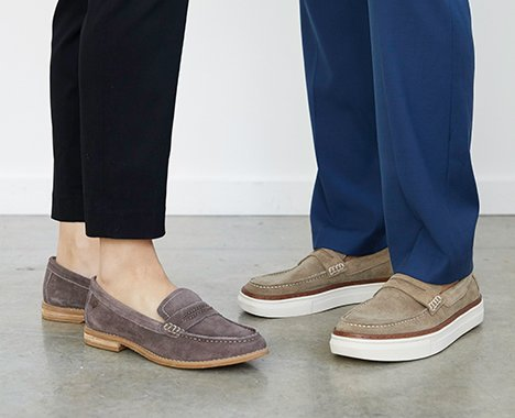 Image of a couple wearing Hush Puppies
