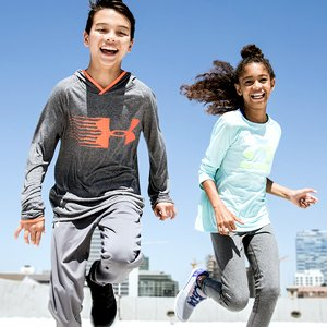 Kids Jumping Wearing Under Armour