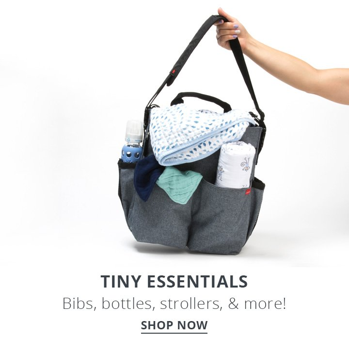 Tiny Essentials. Bibs, Bottles, strollers and more. Shop Now.