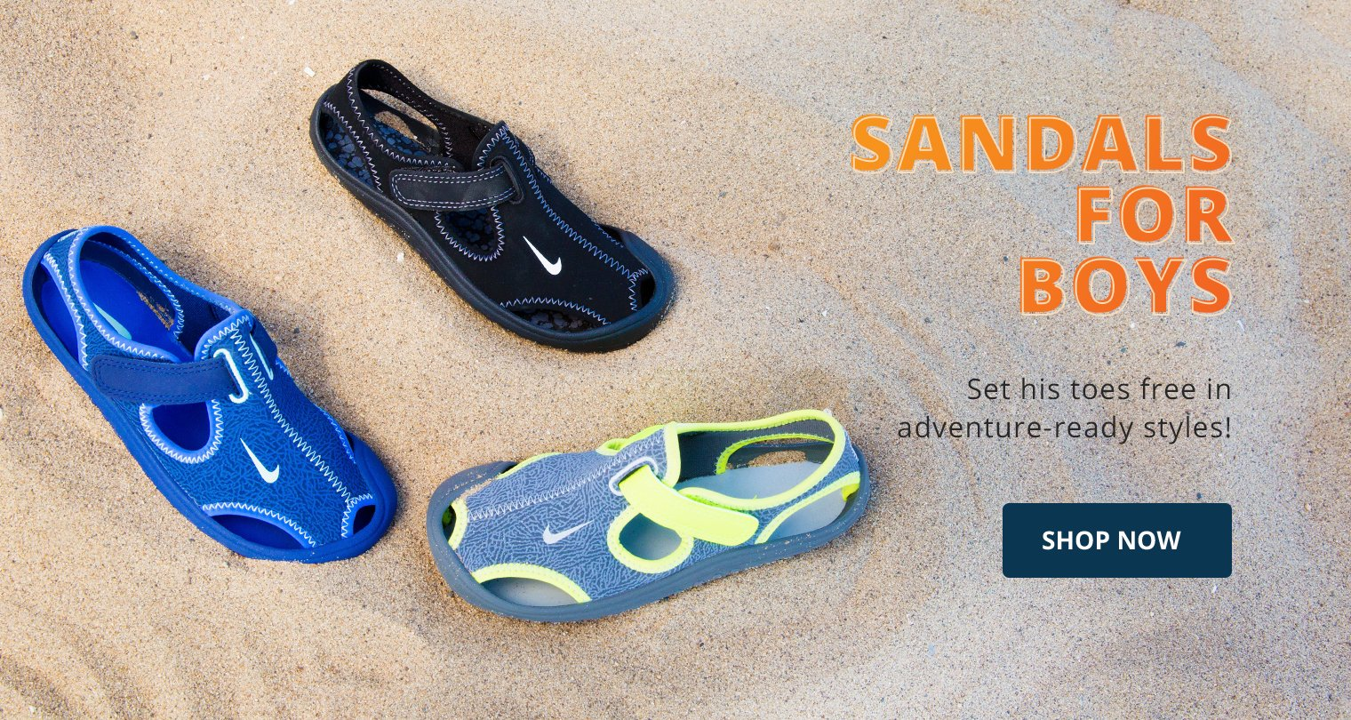 Sandals for boys. Set his toes free in adventure ready styles! Shop Now.