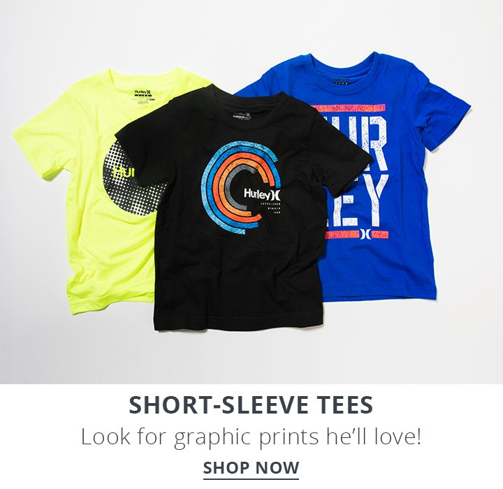 Image of boys surf t-shirts. Short Sleeve Tees. Look for graphic prints he'll love! Shop Now.