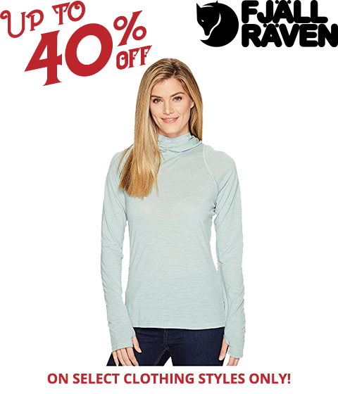 image of woman wearing a fjallraven long sleeve top