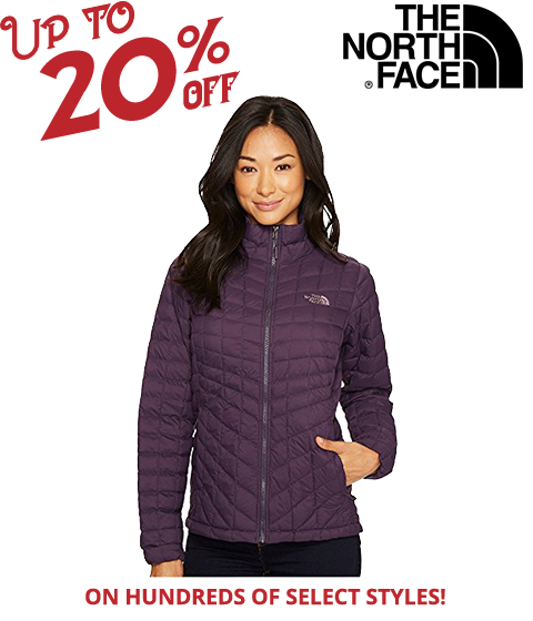 Image of a Women in The North Face Jacket.
