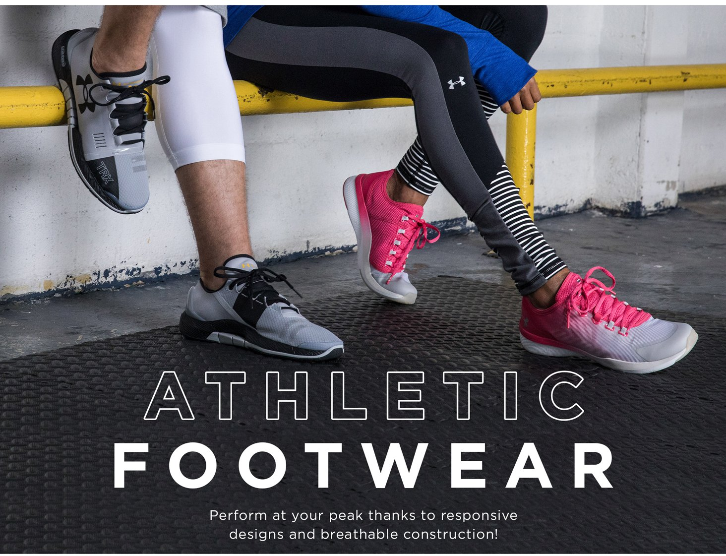 Athletic Footwear: Perform at your peak thanks to responsive designs and breathable construction!