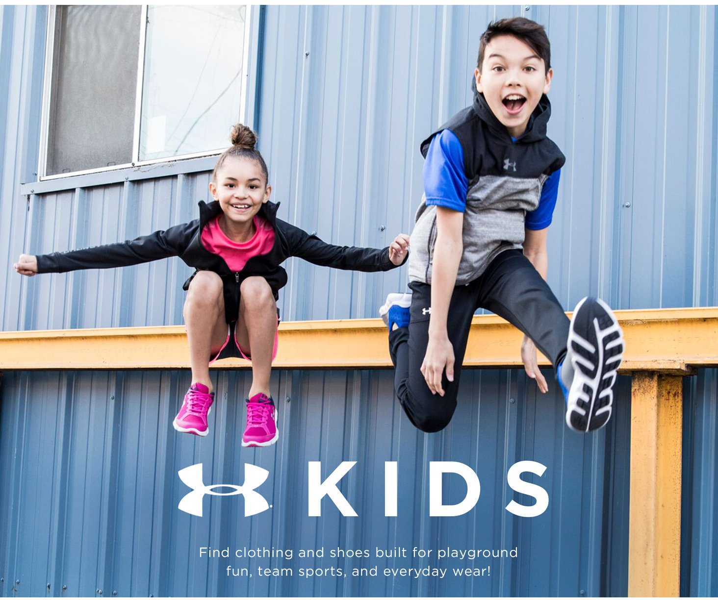 Kids: Find clothing and shoes built for playground fun, team sports, and everyday wear!