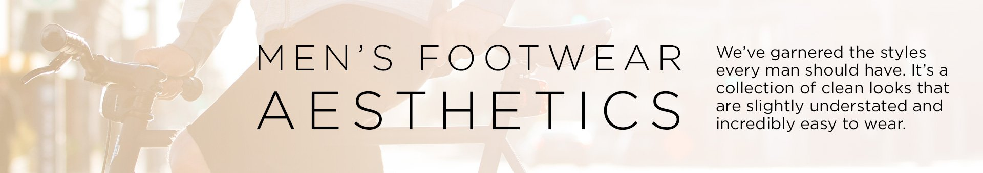 Header: Men's Footwear Aesthetics