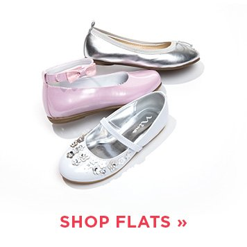 Image of a girls flat shoe