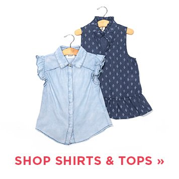 image of girls' shirts and tops