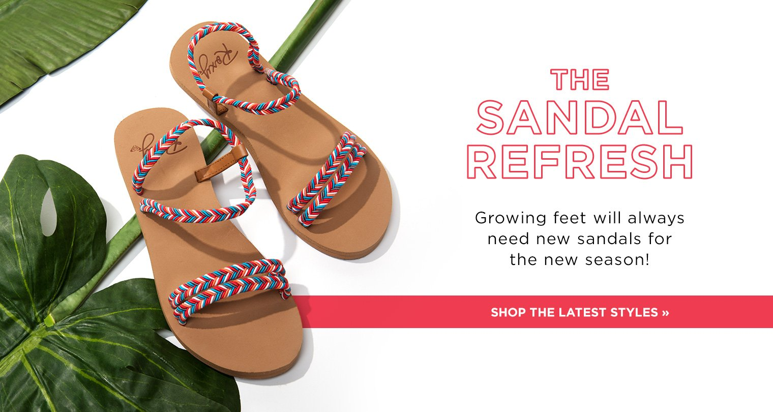 image of girls' sandals calling out new sandals styles