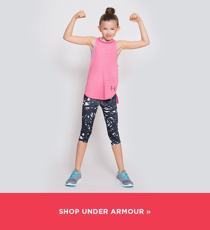 Image of a girl wearing Under Armour