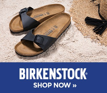 Birkenstock. Image of a black Birkenstock madrid sandal. Shop Now,.