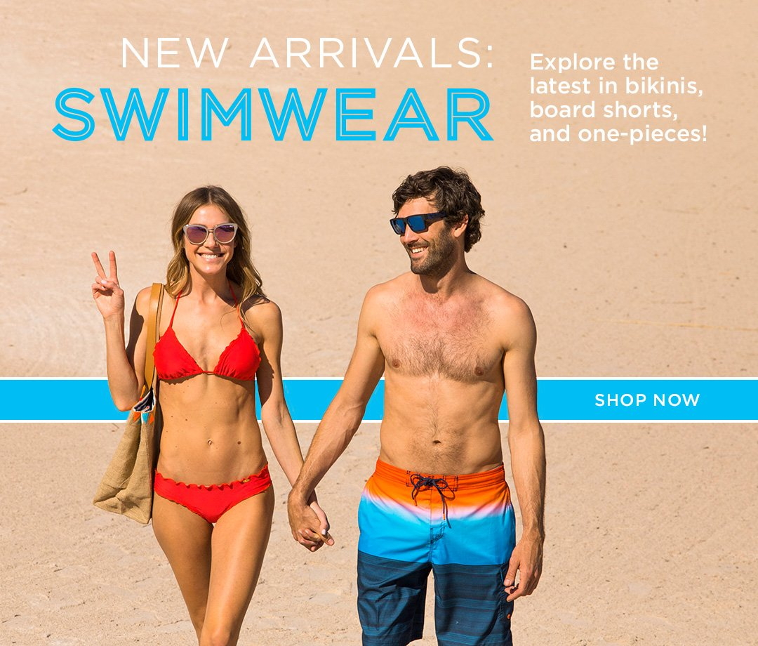 New Arrivals Swimwear. Explore the latest in bikinis, board shorts, and one-pieces. Shop Now.