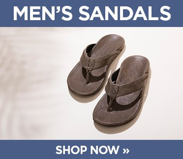 Mens Sandals. Shop Now. Image of mens brown olukai flip flop