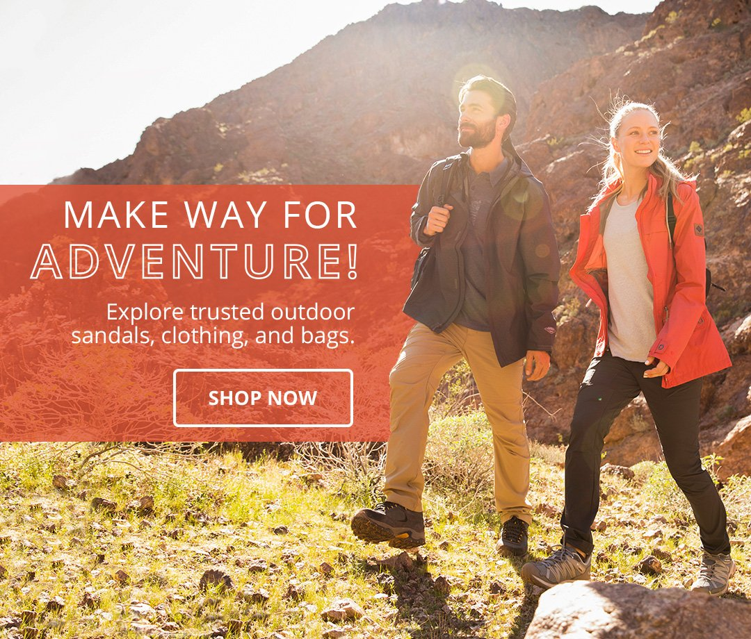 Make way for adventure! Explore trusted outdoor sandals, clothing, and bags. Shop Now.