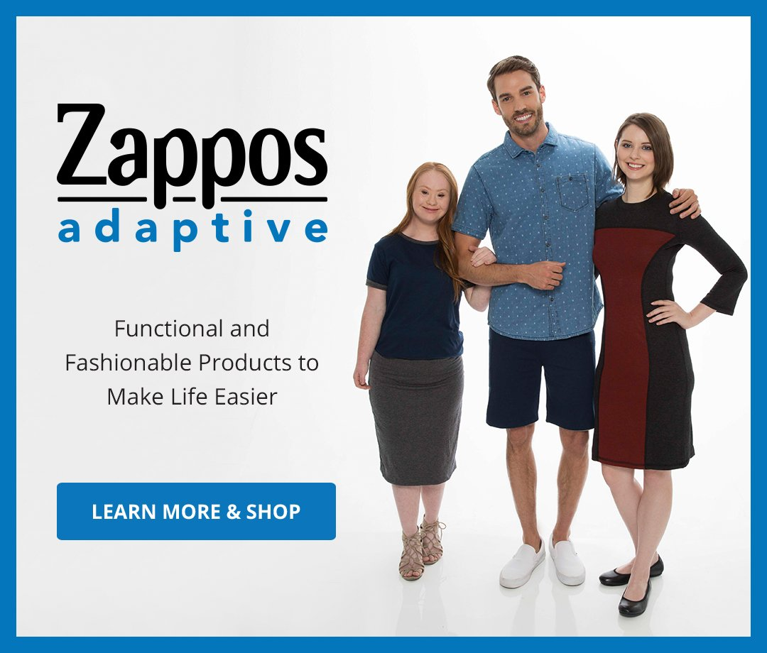 Zappos Adaptive. Functional and Fashionable products to make life easier. Learn More & Shop