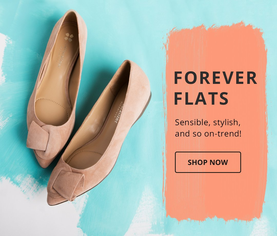 Forever Flats. Sensible, stylish, and so on-trend! Shop Now.