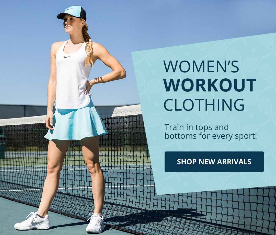 Women's Workout Clothing. Tain in tops and bottoms for every sport! Ship new arrivals.