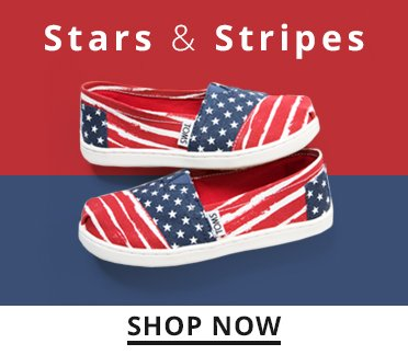 Image of American Flag Toms. Stars and Stripes. Shop Now.