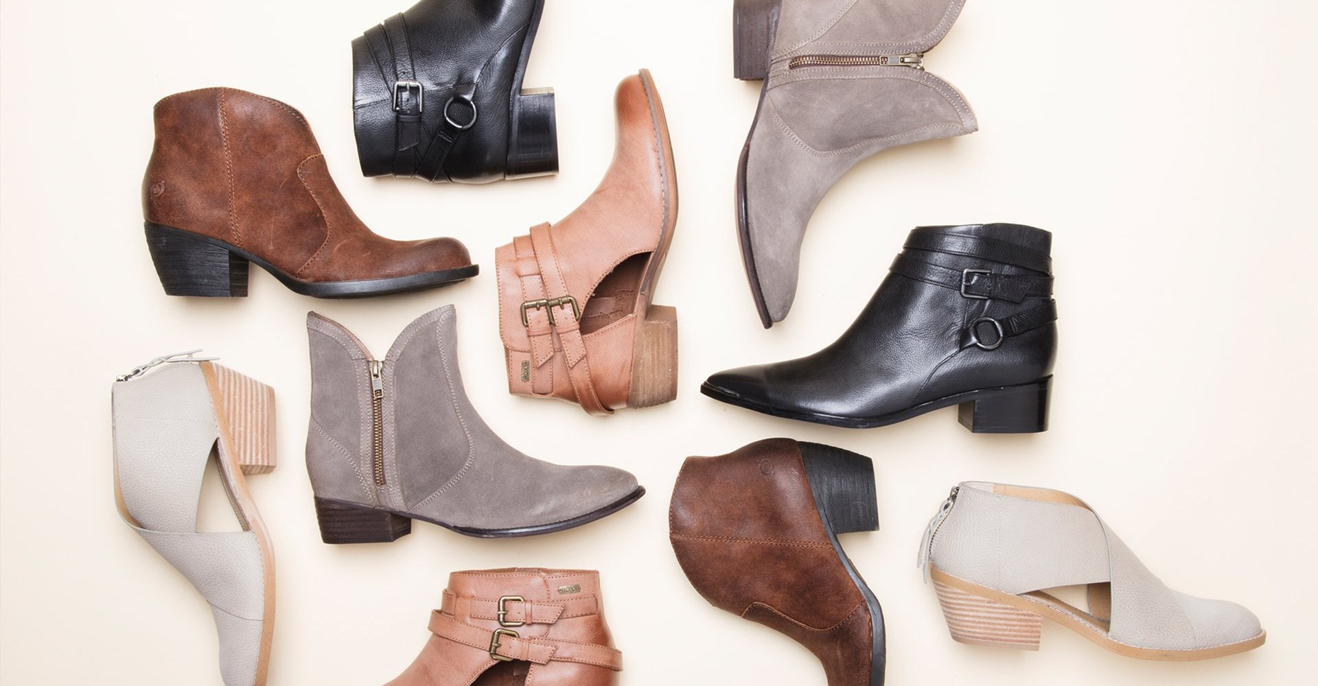 Image of an assortment of booties.