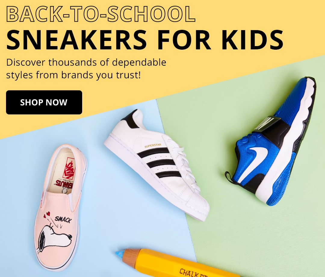 Back-To-School Sneakers for Kids. Discover thousands of dependable styles from brands you trust!