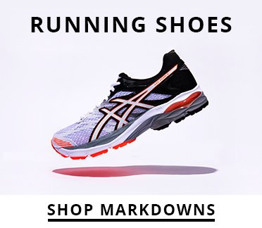 Image of an Asics running shoe. Shop Markdowns