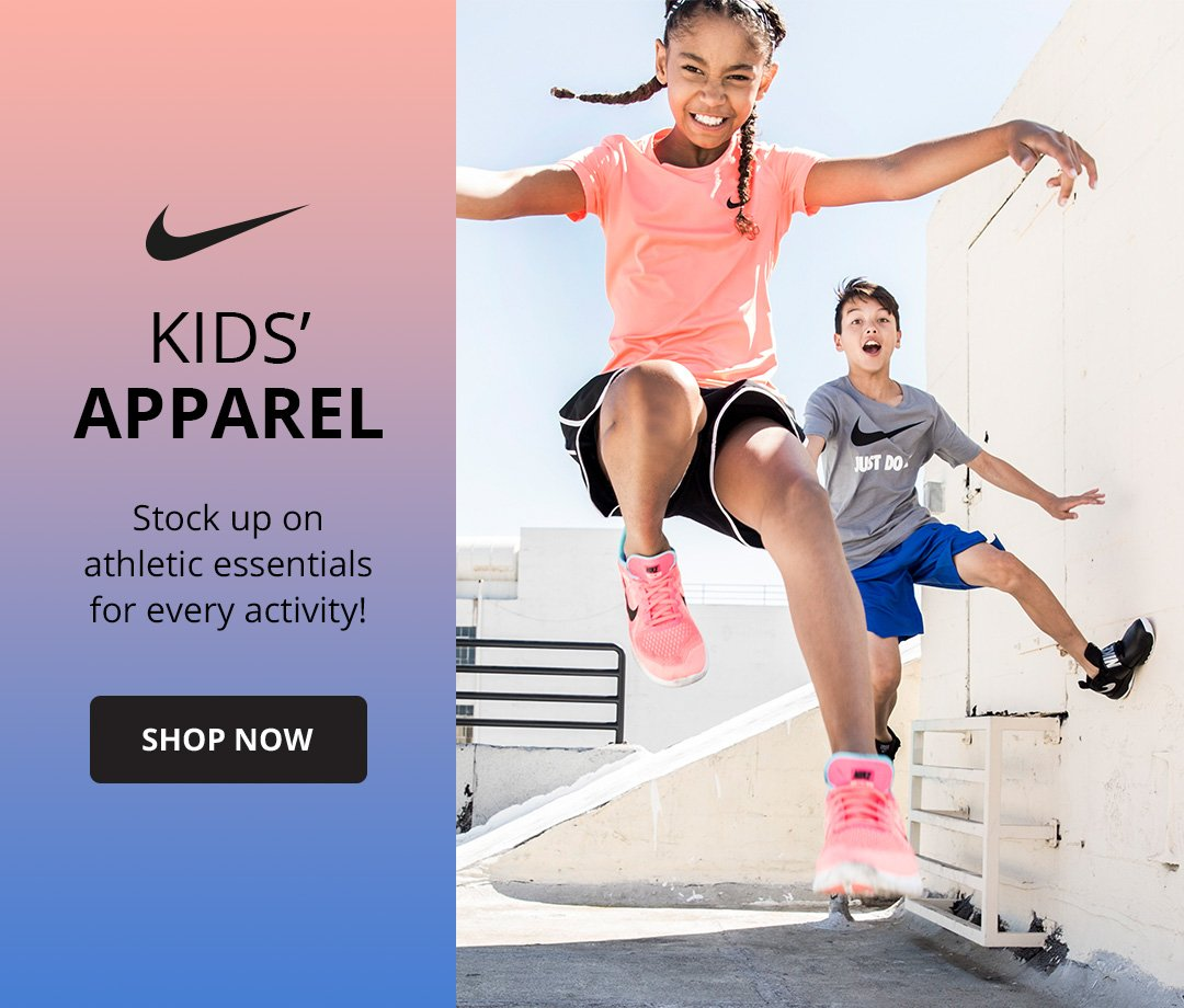 Kids Apparel. Stock up on athletic essentials for every activity. shop now.