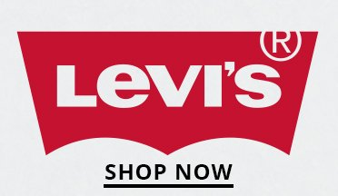 Levis Logo. Shop Now.