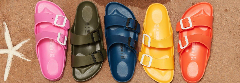 Image Links to shop assortment of birkenstock shoes