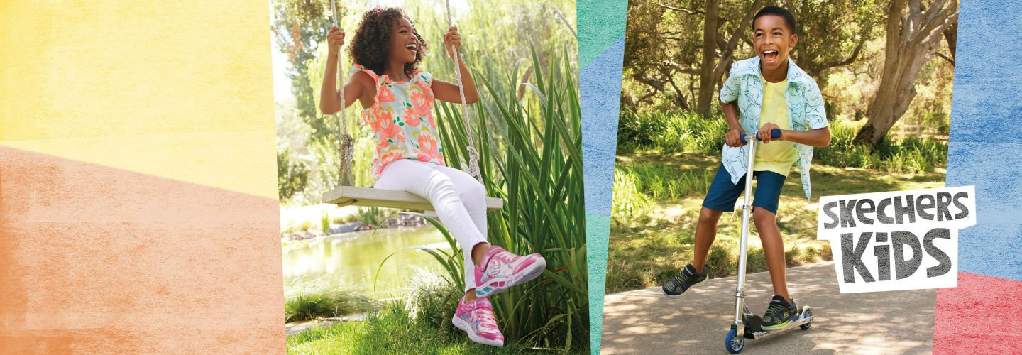 Image Links to shop assortment of skechers kids shoes