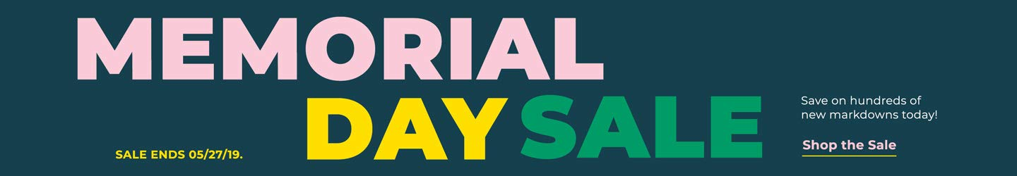 Memorial Day Sale. Save on hundreds of new markdowns today! Shop the Sale.