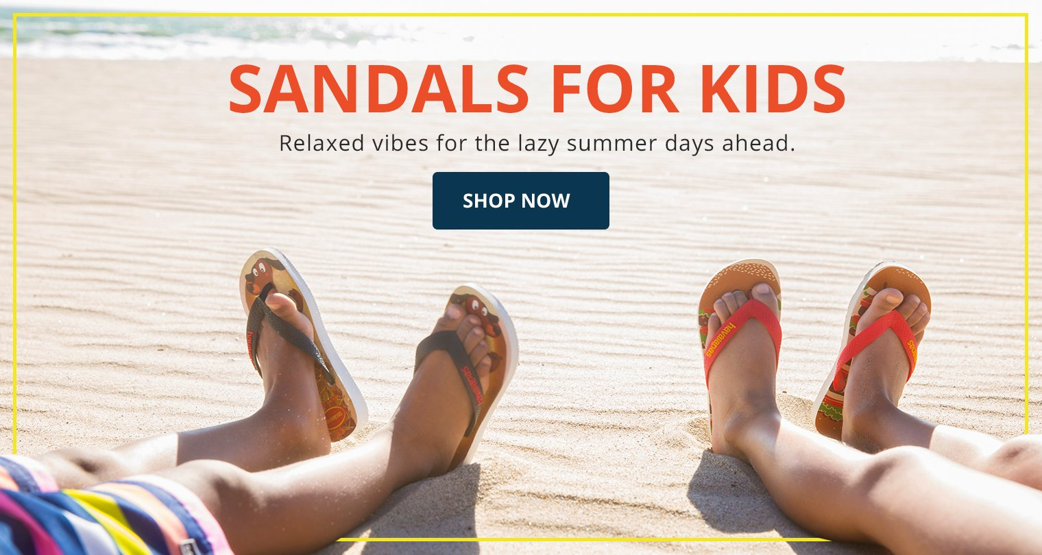 Sandals for Kids. Relaxed vibes for the lazy summer days ahead. Shop Now.