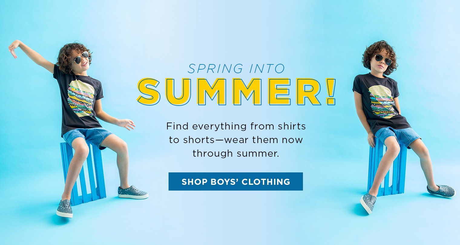 Image of Boy in summer clothing relaxing
