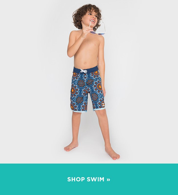 Image of Boy wearing a swim suit