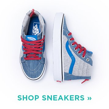 Image of Boys Silver and Blue Sneaker