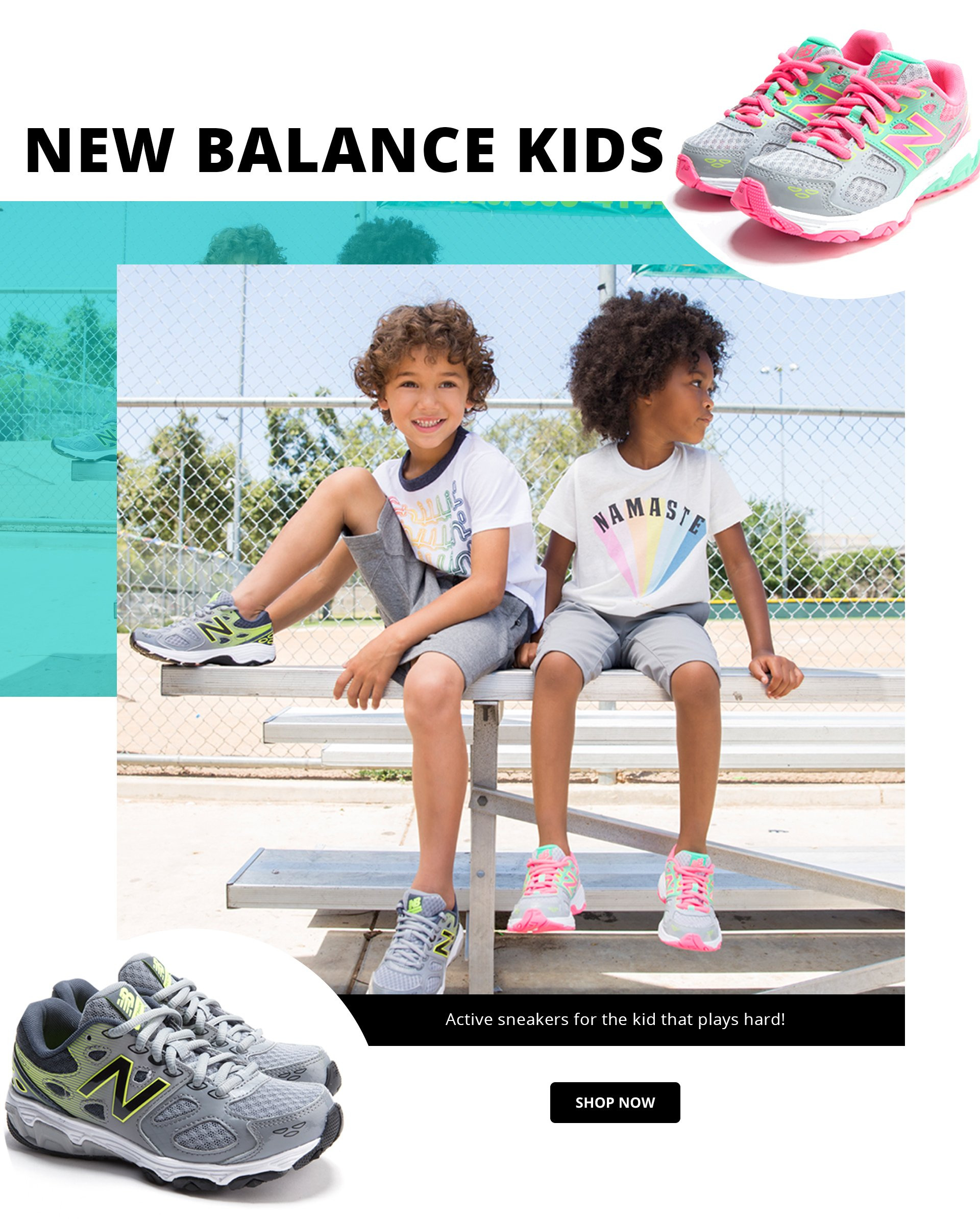 Shop New Balance Kids Sneakers