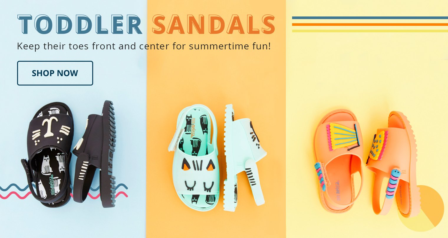 Toddler Sandals. Keep their toes front and center for summertime fun! Shop Now.