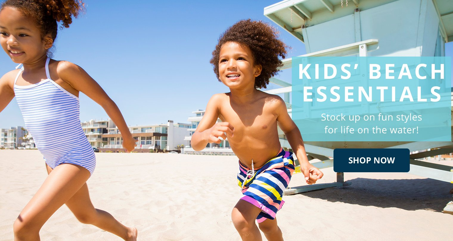 Kids' Beach Essentials. Stock up on fun styles for life on the water! Shop Now.